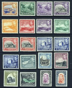 CYPRUS King George VI 1938-51 The Full Pictorial Set SG 151 to SG 163 MINT