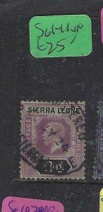 SIERRA LEONE  (P2703B)  KGV  9D   SG 141 SON CDS   VFU