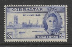 Gibraltar - Scott 120 - Peace Issue -1946 - MVLH - Single 3d Stamp