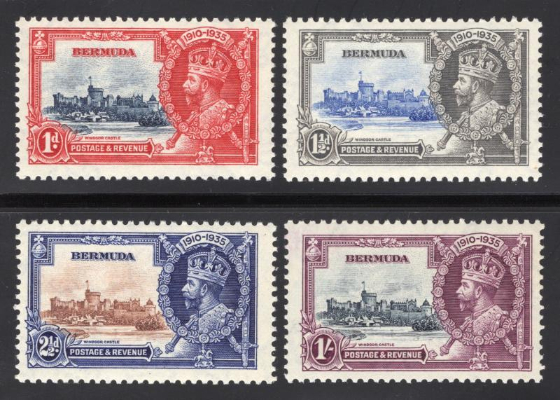 Bermuda #100 thru #103 - Silver Jubilee Issue - O.G. - N.H. - Very Fine