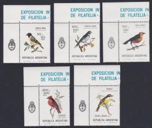 Argentina Siskin Seedeater Blackbird Flycatcher Kiskadee Birds 5v World Football