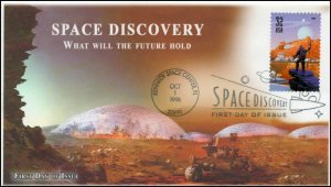 AO 3240, 1998, Space Discovery, FDC, Future Space, Add On Cachet, SC 3240