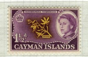 CAYMAN ISLANDS; 1962 early QEII pictorial issue fine Mint hinged 1.5d. value