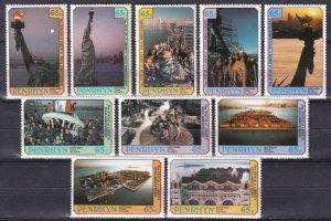 Penrhyn Island  #350a-350e, 351a-351e  MNH CV $10.50 (Z6122)