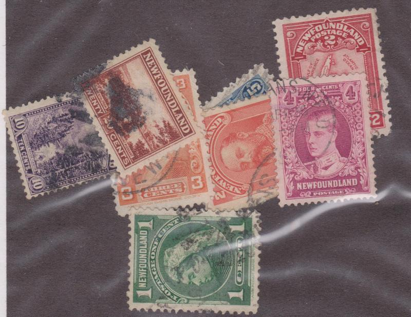 Newfoundland -#80, 82-3, 85, 86, 139, 143, 166 Used (8 Different) F-VF