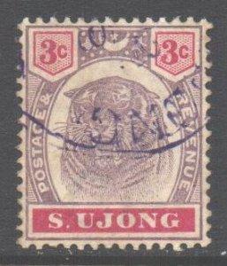 Malaya Negri Sembilan Sungei Ujong Scott 36 - SG55, 1895 Tiger 3c used