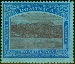 Dominica 1919 2s Purple & Deep Blue-Blue SG53b Fine Mtd Mint