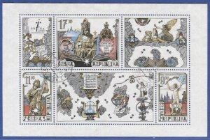 CZECH REPUBLIC 2000 Prague City of Culture s/s  Sc 3116, Used VF, Music, Nude