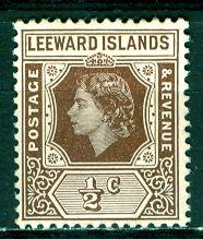 Leeward Islands; 1954: Sc. # 133; **/MNH Single Stamp