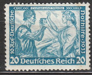 Stamp Germany Mi 505A Sc B55 1933 WWII 3 Reich Tristan Isolde Richard Wagner MH