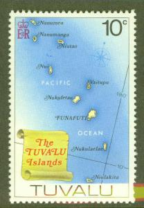 TUVALU Scott 28 MNH** Map of Islands