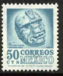 MEXICO 949, 50c 1950 Def 5th Issue Fluorescent unglazed. MINT, NH. F-VF.