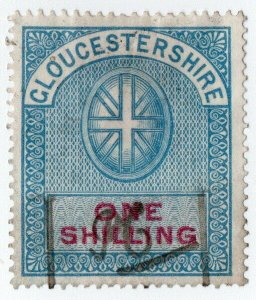 (I.B) Gloucestershire Revenue : Court Fee 1/-