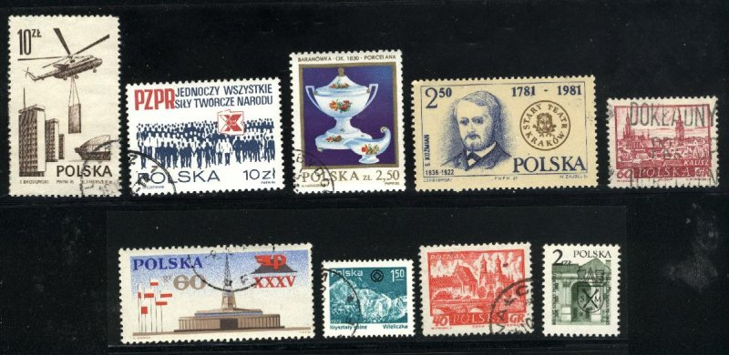Poland 950,952,2347,2396,2489,2504,2735.C54 + 1 used  PD