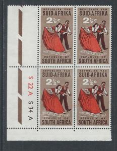 SOUTH AFRICA SC# 281 CONTROL B/4 VF MNH 1961