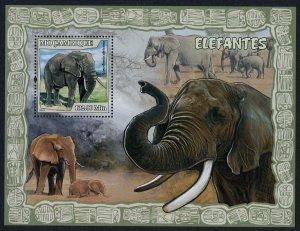 Mozambique MNH S/S 1786 Elephants Wildlife
