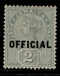 JAMAICA QV SG O5, 2d grey, M MINT. Cat £32.