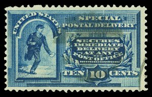 Scott E2 1888 10c Special Delivery Perforated 12 Issue Used F-VF Cat $45
