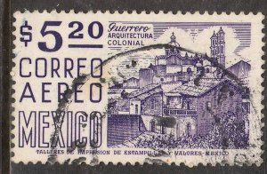 MEXICO C449, $5.20 1950 Def 8th Issue Fosforescent coated. USED. F-VF. (1153)