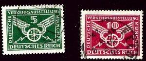 Germany SC#345-346 Used F-VF hr SCV$15.00...Worth a Close Look!