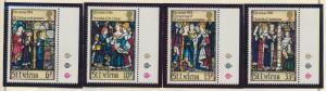 St. Helena Stamp Set Scott #424-7, Mint Never Hinged MNH, Christmas 1984 - Fr...
