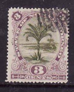 North Borneo-Sc#61-used 3c violet & olive green-1894-trees-