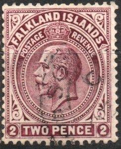 Falkland Islands 1921-1929 Scott #43 VF Used Wmk 4