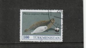Turkmenistan  Scott#  37  CTO  (1993 Seal)
