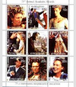 Kyrgyzstan 1999 Annual Academy Awards Sheet Perforated mnh.vf