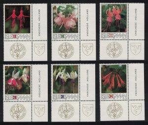 Isle of Man British Fuchsia Society 6v Corners SG#390-395