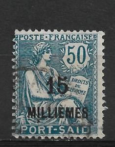 French Offices-Port Said 1921-23 Scott # 64,VF Used (FC-6)