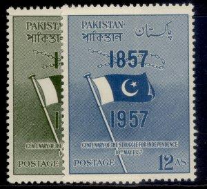 PAKISTAN QEII SG90-91, complete set, M MINT.