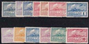 Uruguay 193-1944 SC C93-C105 Mint Set