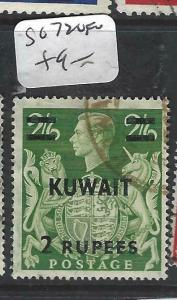 KUWAIT (P1804B)  ON GB  KGVI  2R/2/6  SG 72   VFU