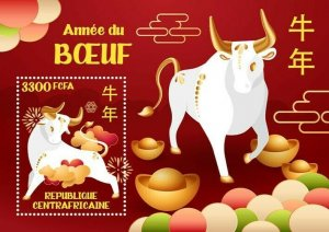 Stamps of CENTRAL AFRICAN REP. 2021 - YEAR OF THE OX