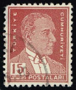 Turkey #1124 Kemal Ataturk; Used (0.25)