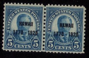 US Scott #648 MNH ,Og Very Fine Vert. Pair CV $45.00