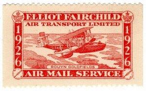 (I.B) Canada Private Air Mail : Elliot-Fairchild Air Mail Service