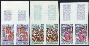 Tunisia 396-398 imperf pairs, MNH. Michel 584-586. National Feast Day, 1961.