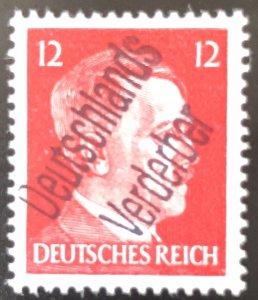Germany-1945 WWll 3rd Reich-Hitler-Liberation-Ovpt 12-Deutschland Verderber-MNH
