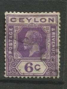 Ceylon #231  Used  1922  Single 6c Stamp