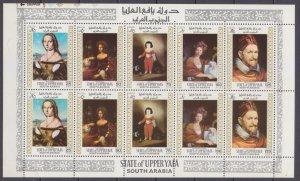 1967 State of Upper Yafa 62-66KL Artists / Raphael 7,00 €