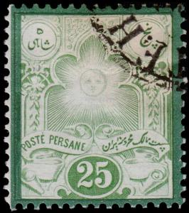 Persia Scott 52 Forgery (1882) Cancelled, with Gum H VF