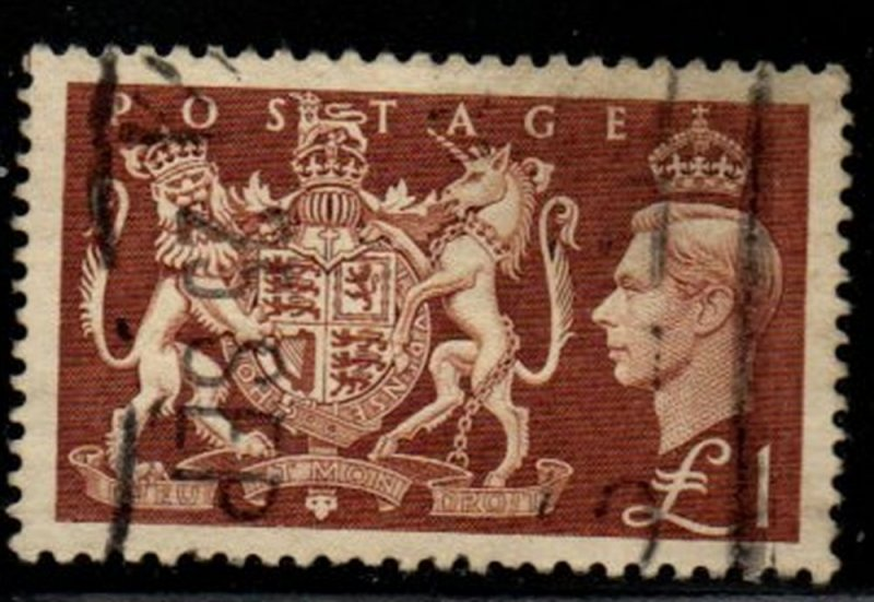 Great Britain Sc 289 1951  £1  George VI stamp used