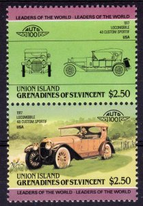 Union Island-G. St.Vincent 1985 Sc162 CARS-LOCOMOBILE 48 CUSTOM SPORTIF 1917 USA