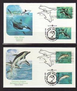US 2508-11 Marine Mammals 1990 Fleetwood S/4 U/A FDC
