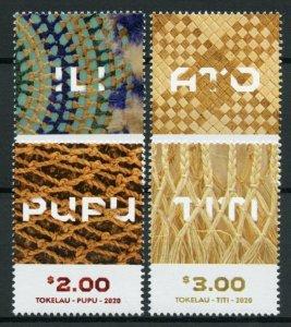 Tokelau Cultures & Traditions Stamps 2020 MNH Weaving Arts & Crafts 4v Set
