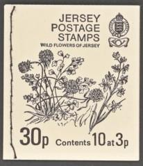 Jersey SG#SB13 Booklet MNH Inverted Panes 30p Wild Flowers