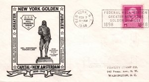 US Greater New York Golden Jubilee Capital of New Amsterdam 1948 Cover
