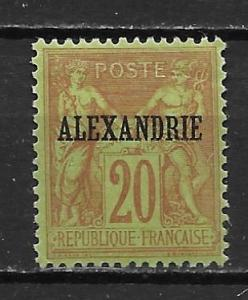 France Offices in Egypt - Alexandria 8 20c Commerece single MH